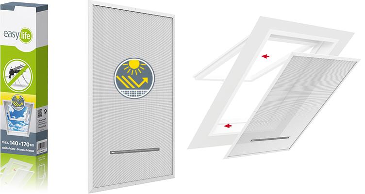 Insektenschutz PVC-Rahmen für Dachfenster