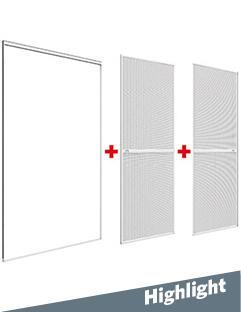 Echte Doppelschiebe-Tür